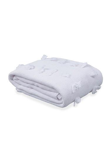 Penelope Waffle Yatak Örtüsü Beyaz 230x250 Beyaz